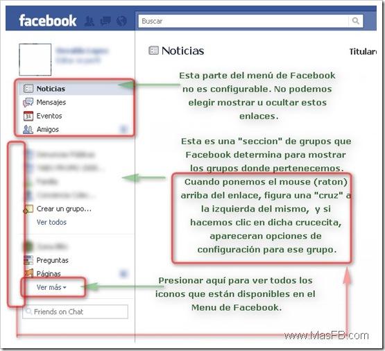 Análisis del Menú de Facebook