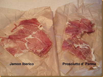 Jamon and Prosciutto