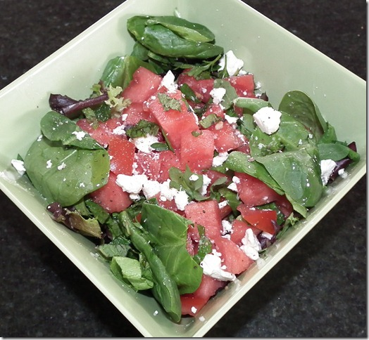 Watermelon, Tomato & Feta Salad 4-6-11