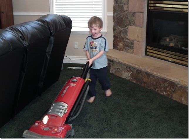 Sam vacuuming 5-5-11