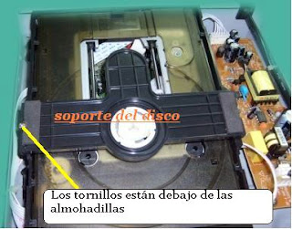 desarme de bandeja de dvd player