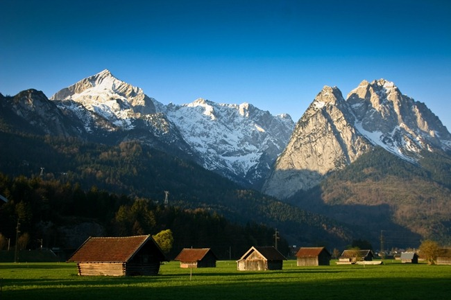 Garmisch Field at Sunrise-4