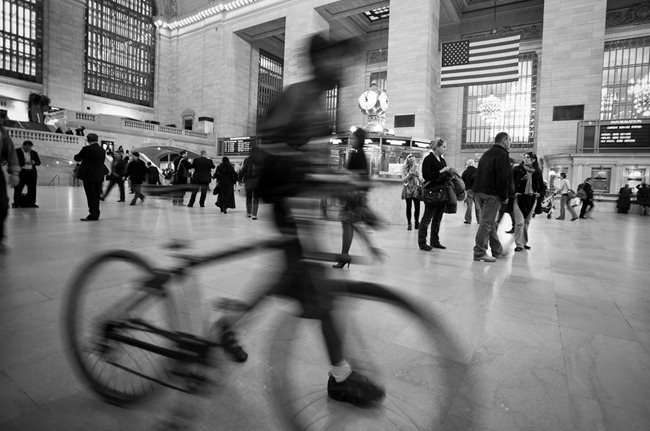 Bicycle in Grand Central Station