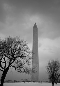 7 Washington Monument in the Snow