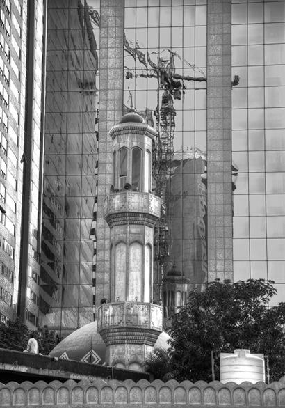 Mosque Crane Reflection