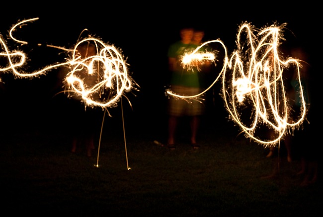 Light Painting with Sparklers-2