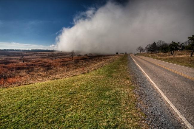 The fog in Shenandoah National Park