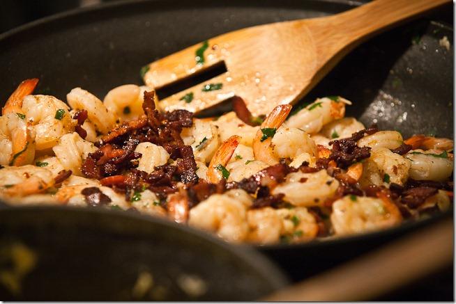 Sautee Shrimp and Bacon