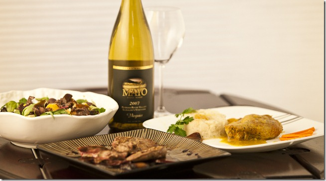 2007 Mayo Viognier with Duck Three Ways-1