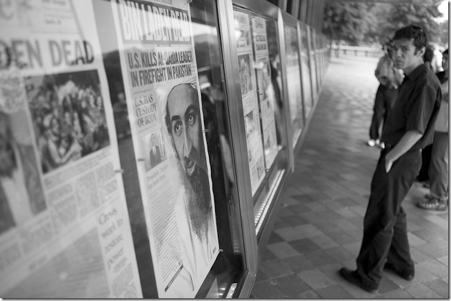 Osama Bin Ladin is Dead - People at the Newseum-8