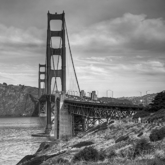 Golden Gate Bridge Black and White-2