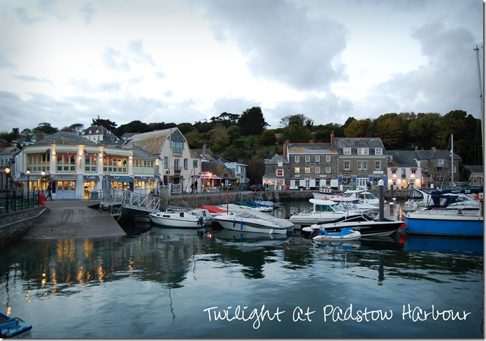Padstow in the evening when Syl and I had fish & chips sitting by the harbour.