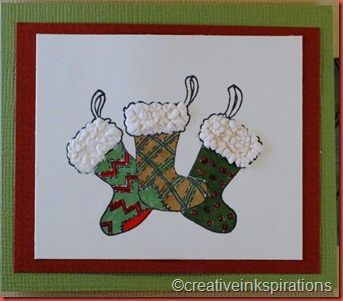 Homespun Christmas w liquid applique'