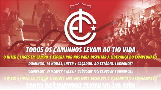 Banner Inter x Caçador