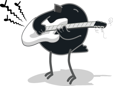 Birdie with guitar