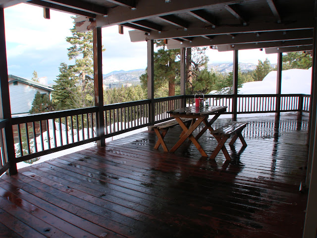 when snowing or raining use 100 sq ft covered deck