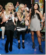 Nicole Scherzinger, Aly and AJ Michalka at MTV's TRL