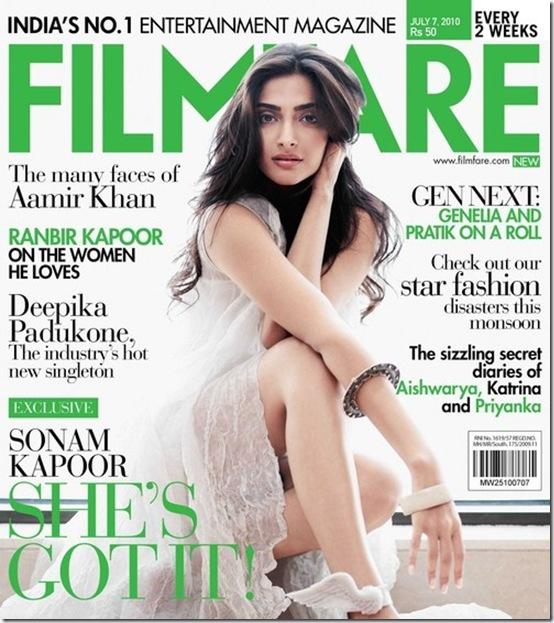 sonam kapoor filmfare magazine
