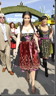 Kim Kardashian in Munich at Oktoberfest hottest cleavage 7