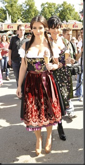 Kim Kardashian in Munich at Oktoberfest hottest cleavage 8