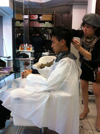 Keith's haircut