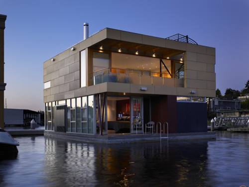 contemporary floating home design in seatle