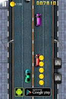 Screenshot of Car Race : Down Town Rush 2