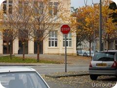 Thionville - Place Marie-Louise - Panneau Stop ~ 07.10.10
