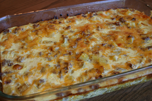 What's for Dinner?: Potato and Sausage Breakfast Casserole