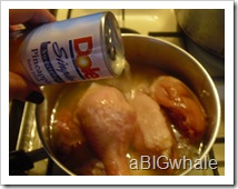 chicken and pineapple juice in a pan bring to a boil and add bayleaf and pepper