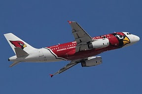 Airbus 319 US Airways (Arizona Cardinals)