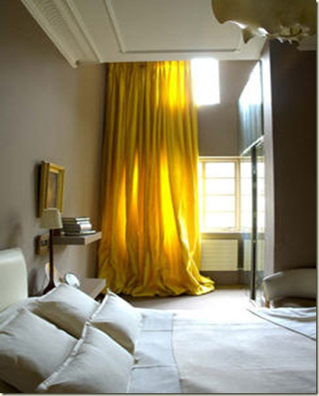 Design-crisis yellow drapes