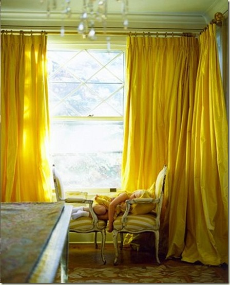 Paul Costello yellow drapes