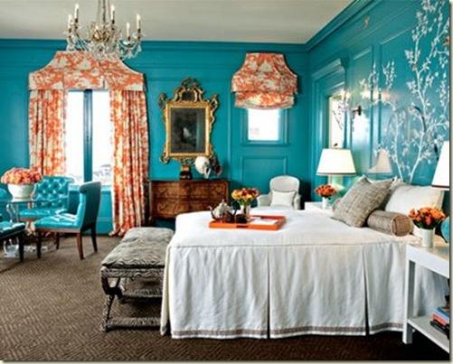 via_littlegreennotebook turq bedroom