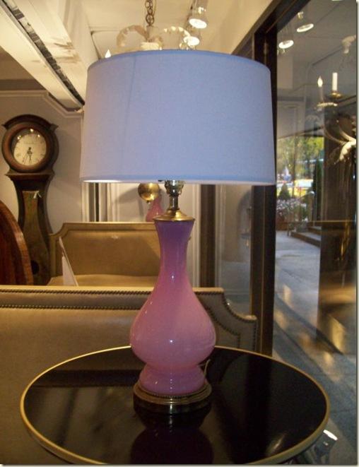 Pink opaline lamp