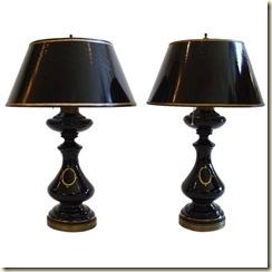 black opaline lamps