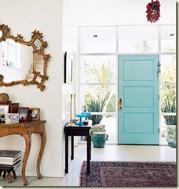 turquoise-door-domino, www.melissagulley.com , www.designtrackmind.com , melissa gulley interior design Newton MA , melissa gulley interior design Wellesley MA , melissa gulley interior design Weston MA ,