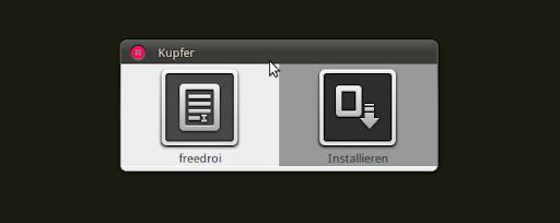 Kupfer: Freedroid installieren