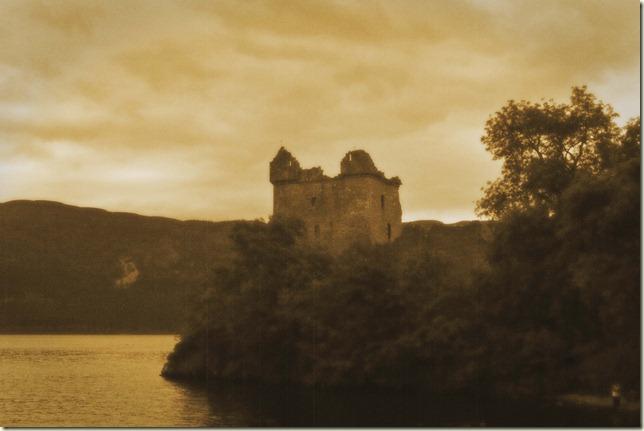 sepia Urquhart castle