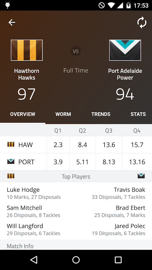 AFL Footy Live Screenshot