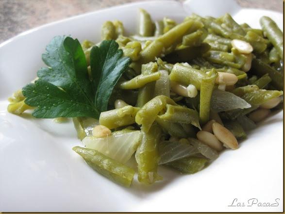 La cocina de las pacas jud as verdes con pi ones - Como preparar las judias verdes ...