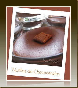 Natillas de chococereales