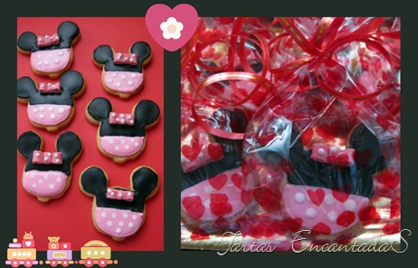 Collage de galletas minnie