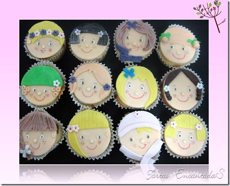 cupcakes caritas niñas