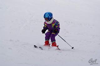 Baby skier