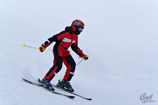 Experienced skier