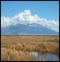 Blanca Peak with clouds