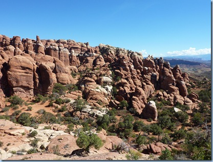 Arches Nat'l Park Fiery Furnace from top