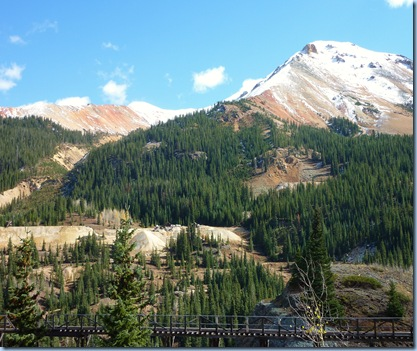 Colorado San Juan Skyway Red Mountains with Mines