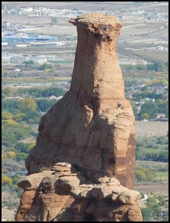 Colorado Nat'l Monument Independance Monument Rock Climbers